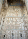 Hieroglypic carvings on an egyptian temple Stock Photo