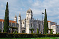 Hieronymites monastery famous in lisbon portugal Stock Photos