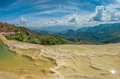 Hierve el Agua, natural rock formations in the Mexican state of Royalty Free Stock Photo