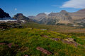 High Above Logan Pass in Glacier National Park Royalty Free Stock Images