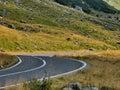 High alpine road view from romanian carpathians transfagarasan Stock Photo