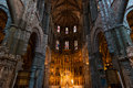 High altar of the gothic Cathedral of Avila Royalty Free Stock Photo