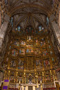 High altar of the gothic cathedral of toledo inside view retable and alter primate saint mary an extremely florid Stock Photos