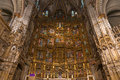 High altar of the gothic cathedral of toledo inside view retable and alter primate saint mary an extremely florid Stock Image