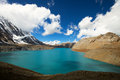 High altitude beautiful blue lake Royalty Free Stock Photos