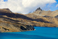 High altitude beautiful blue lake Stock Image