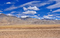 High altitude mountain desert Royalty Free Stock Photo