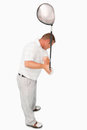 High angle shot of golfer Stock Photography