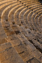 High angle view of a roman amphitheater Royalty Free Stock Photos