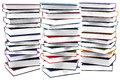 High books stack isolated Royalty Free Stock Photo