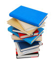 High books stack isolated Stock Image