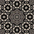 High contrast floral mandala Royalty Free Stock Images