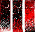High contrast gothic vertical night banners Royalty Free Stock Photo