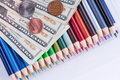 High cost of school supplies Stock Photo