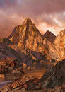 High Country Alpen Glow Royalty Free Stock Photo
