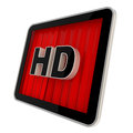 High definition pad screen icon Stock Images