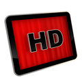High definition pad screen icon Royalty Free Stock Photography