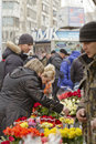 High demand for flowers in connection with international women s day on the streets volgograd march march volgograd russia Stock Photo