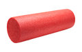 High density foam exercise roller red isolated on white Royalty Free Stock Images