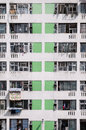 High density housing estate sha tin hong kong s public is characterised by rise tower blocks located in urban estates here a close Royalty Free Stock Photos