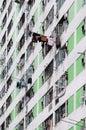High density public housing hong kong on the lek yuen estate sha tin Royalty Free Stock Photos