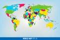High Detail World Map. Vector