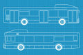 High detailed bus illustration Stock Photo