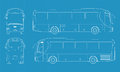High detailed bus illustration Royalty Free Stock Image