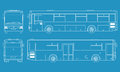 High detailed bus illustration Stock Images