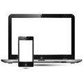 High detailed laptop & smart phone Royalty Free Stock Photos