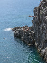 High Dive Riomaggiore Cliff Italy