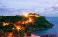 High dynamic range technique of twilight phuket thailand view point in Stock Images