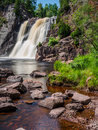 High Falls of Baptism River at Tettegouche State Park 5 Royalty Free Stock Photo