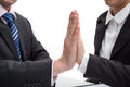 High five friendly businessmen doing a hight gesture Royalty Free Stock Images