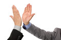High five success concept for teamwork congratulating and celebration Royalty Free Stock Photos
