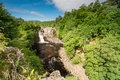 High Force Waterfall in summer Royalty Free Stock Photo