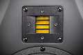 High frequency loudspeaker yellow tweeter closeup Royalty Free Stock Photography