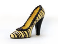 A high heel shoe made of chocolate clipping path included Stock Photos