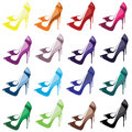 High heel shoes for every ocasion Royalty Free Stock Image