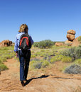 High Heel Walking Woman in Outback Australia Royalty Free Stock Image