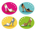 High-heeled shoes Stock Photos