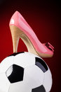 High Heels and Ball Stock Photo