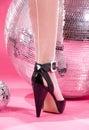 High heels and disco balls Royalty Free Stock Photo