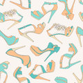 High heels seamless pattern Royalty Free Stock Photography