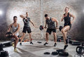 High intensity training workout Royalty Free Stock Photo