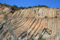 Badlands, rock, sill, bedrock, geology, outcrop, escarpment, cliff, formation, fault, sky, terrain, geological, phenomenon, nation Royalty Free Stock Photo