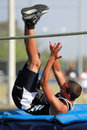High Jump Competition Royalty Free Stock Photos