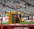 High jumper Alessia Trost from Italy win high jump Royalty Free Stock Photos
