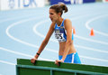High jumper Alessia Trost from Italy win high jump Stock Photo