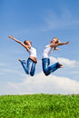 High jumps Royalty Free Stock Photography